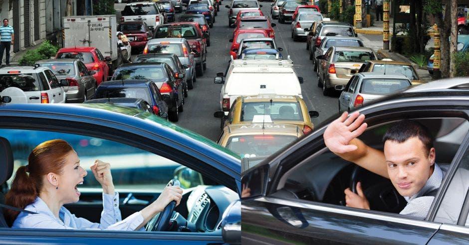 tráfico de carros