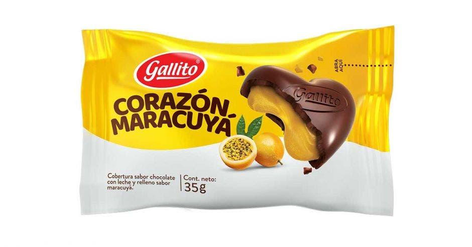 chocolate en forma de corazón