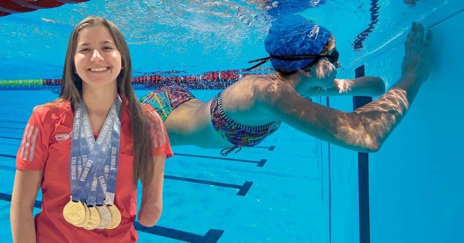 Camila Haase realizó una destacada participación en los Juegos Paracentroamericanos donde obtuvo cuatro medallas de oro. Cortesía/La República