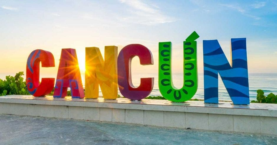 Letrero de cancun