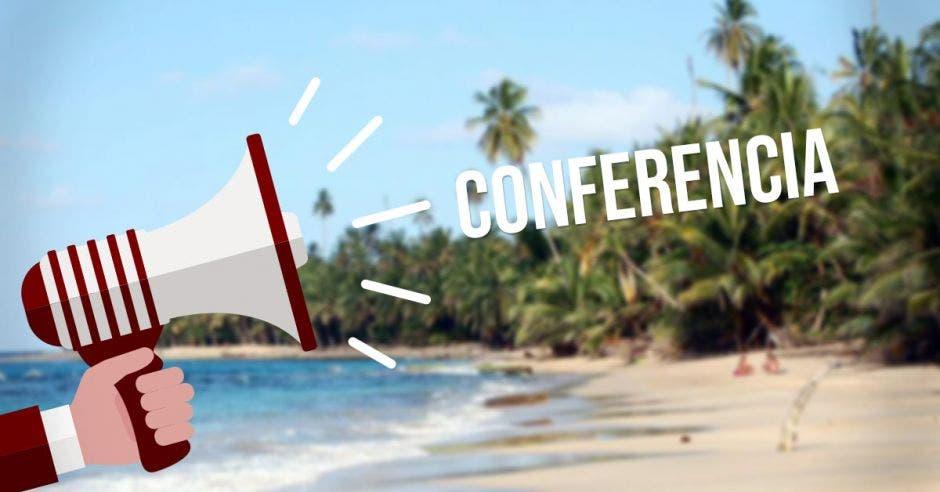 rótulo que dice Conferencia