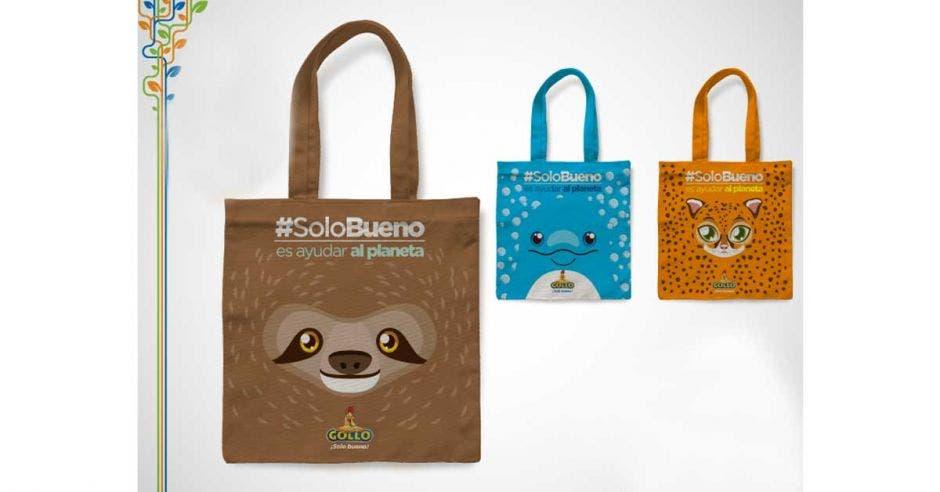 bolsas de tela con diseño de oso perezoso