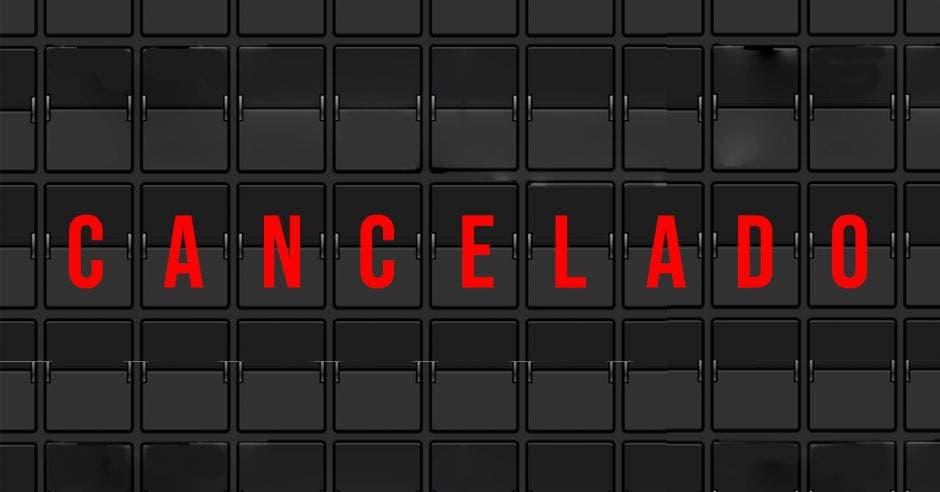 rótulo: Cancelado