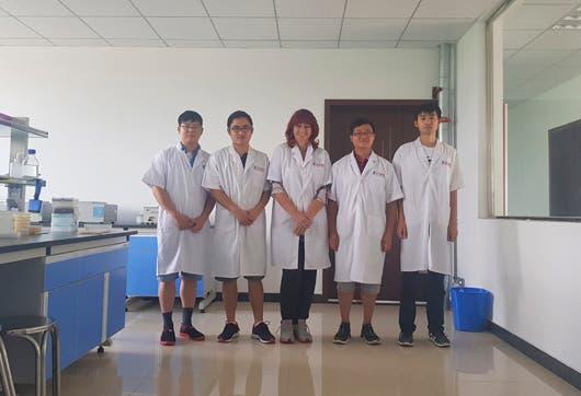 María Cristina Vargas Chacón investigadora del INTA, participó en el programa China - LAC Young Scientist Exchange.