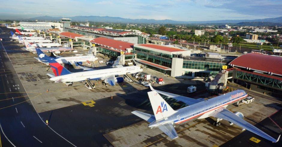 aviones parqueados