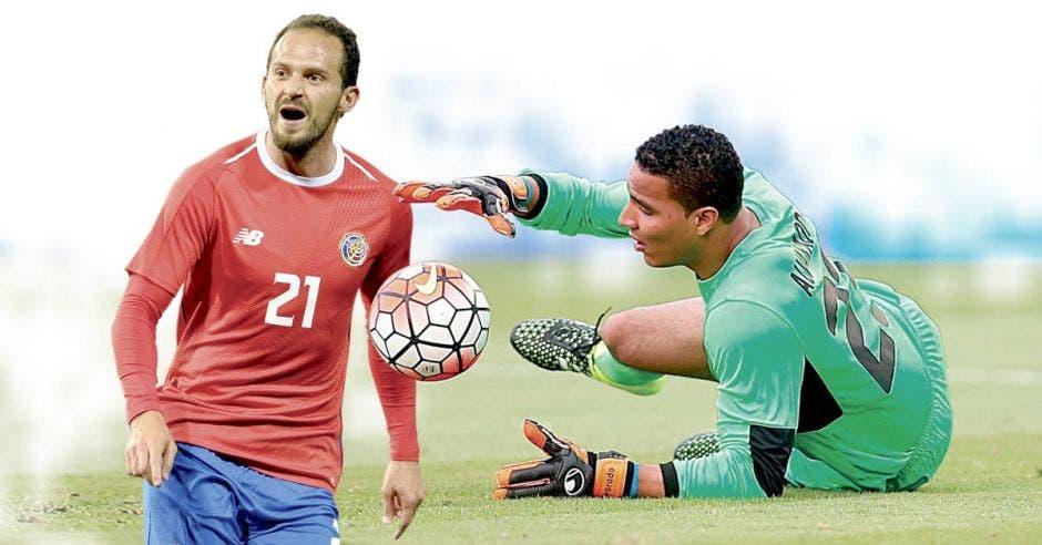 """Esteban Alvarado, """"guante de oro"""", no trascendió en el fútbol europeo, al igual que Marco Ureña, llamado a ser el goleador de la Selección. LDA-AFP/La República"""