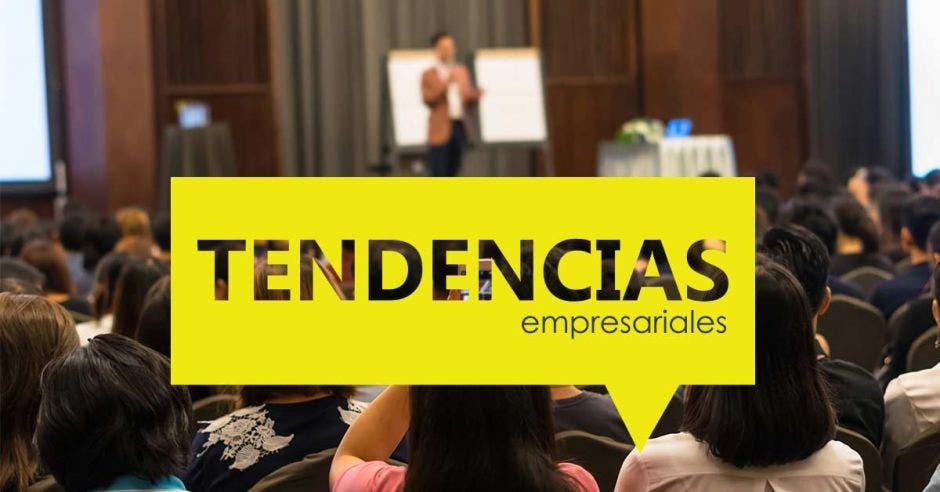 rótulo que dice: tendencias empresriales