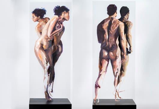 "Para Osvaldo Sequeira, se trata de ""existir como ente social puro"", por eso sus pinturas del ser humano son desnudas, ""porque agregarle prendas mata la imagen"", dice el pintor convencido."