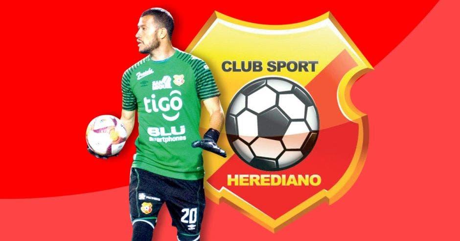 Daniel Cambronero, portero del Herediano recibió siete goles en dos partidos, tres en San Carlos y cuatro en Atlanta, desmoronamiento de su zona de retaguardia. CSH/La República