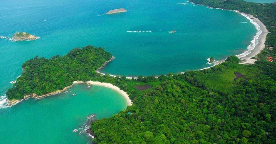 vista aérea del Parque Manuel Antonio