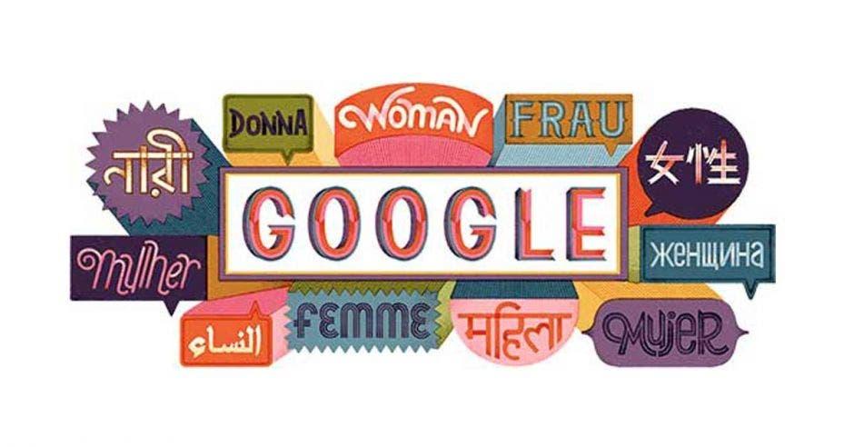 """""""Doodle"""" de Google conmemorando el Día Internacional de la Mujer"""
