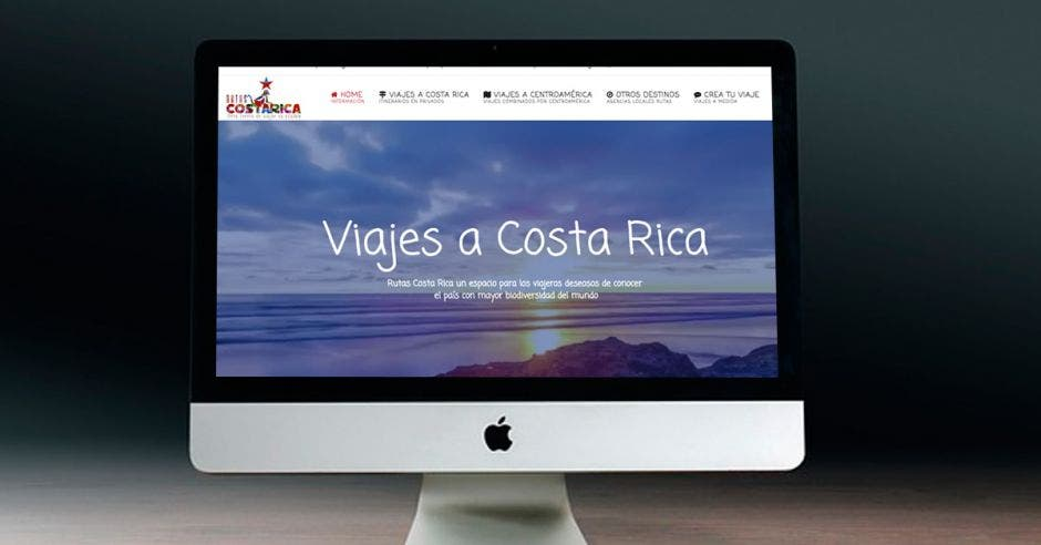 sitio web de Rutas Costa Rica