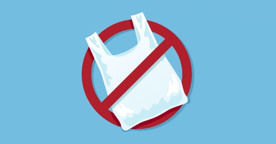 rótulo de no bolsas plásticas