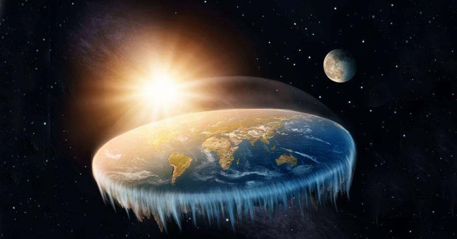 Una imagen de la Tierra plana