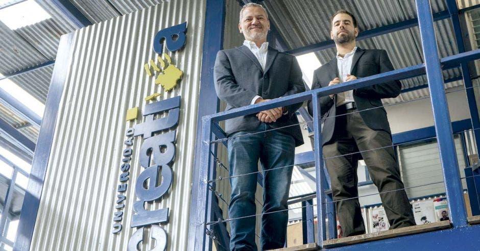 José Coto y José María Calvo en la Universidad Creativa