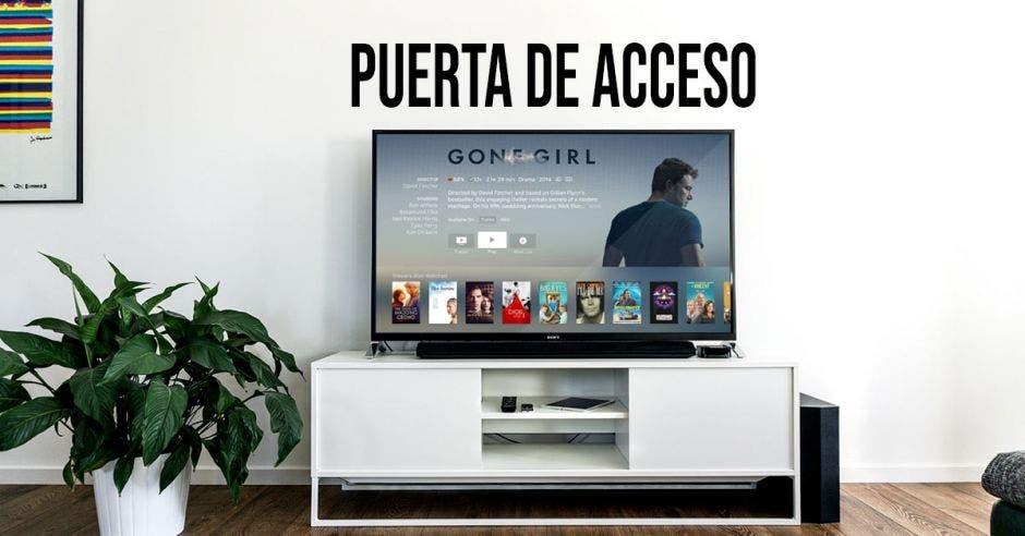 Un smart tv encendido