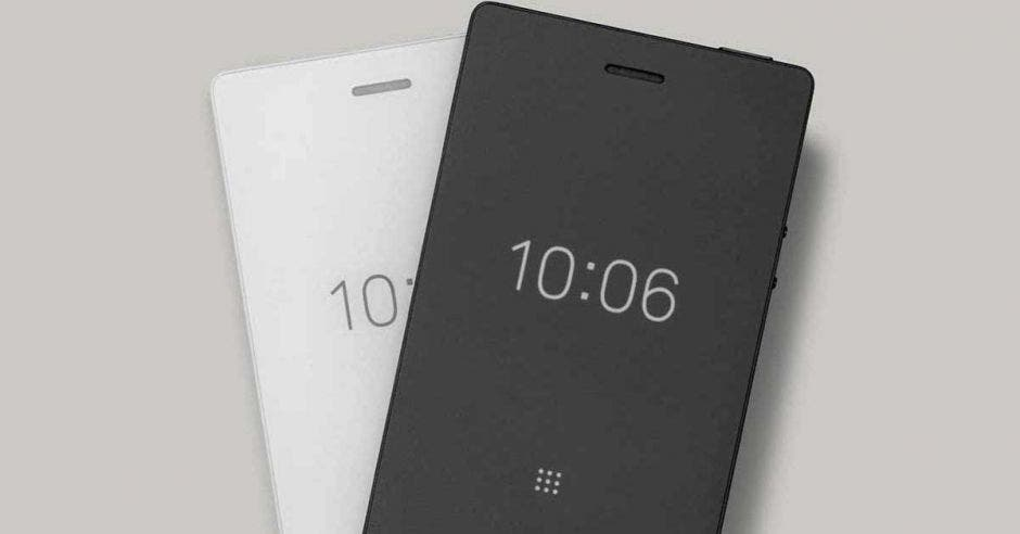 Versiones del Light Phone en blanco y negro
