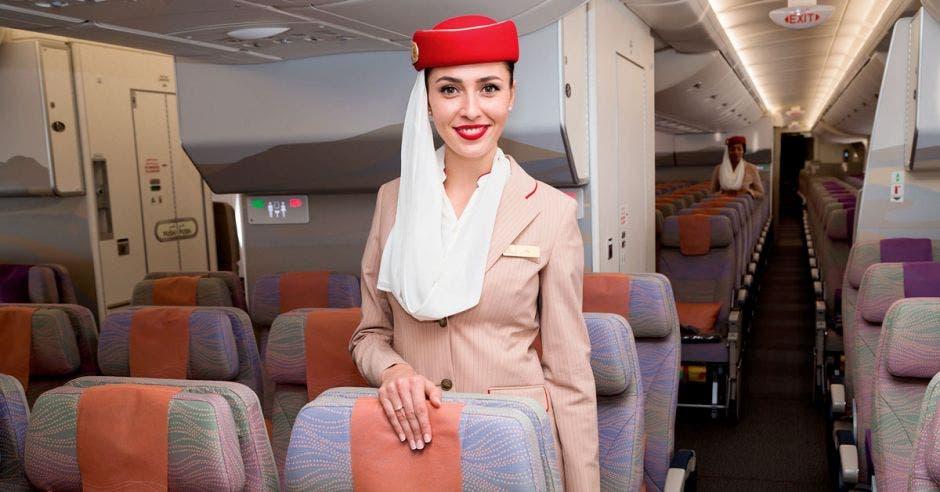 Tripulante de cabina de Emirates