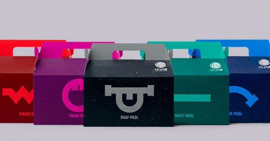 cajitas de cartón de colores