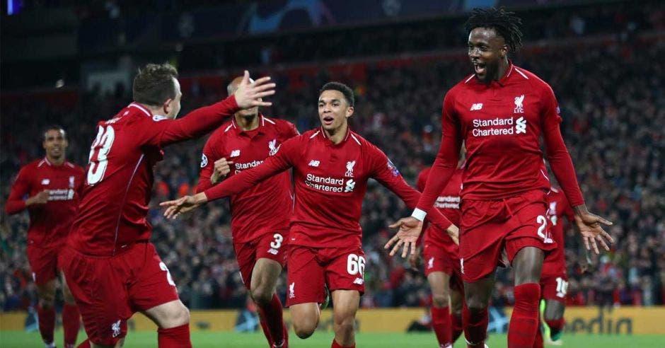 Anfield pesó en la remontada del Liverpool al Barcelona. Liverpool/La República