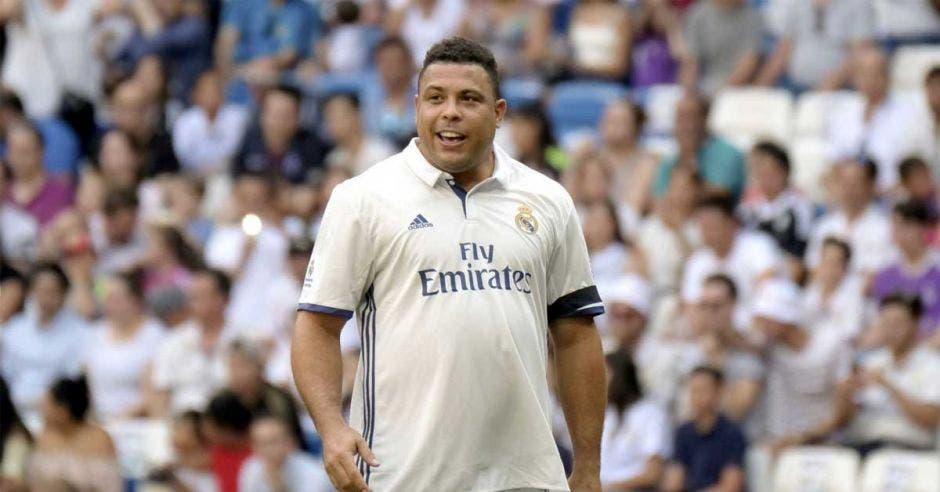 Ronaldo regresó al Santiago Bernabéu en partido amistoso con obesidad. Archivo/La República
