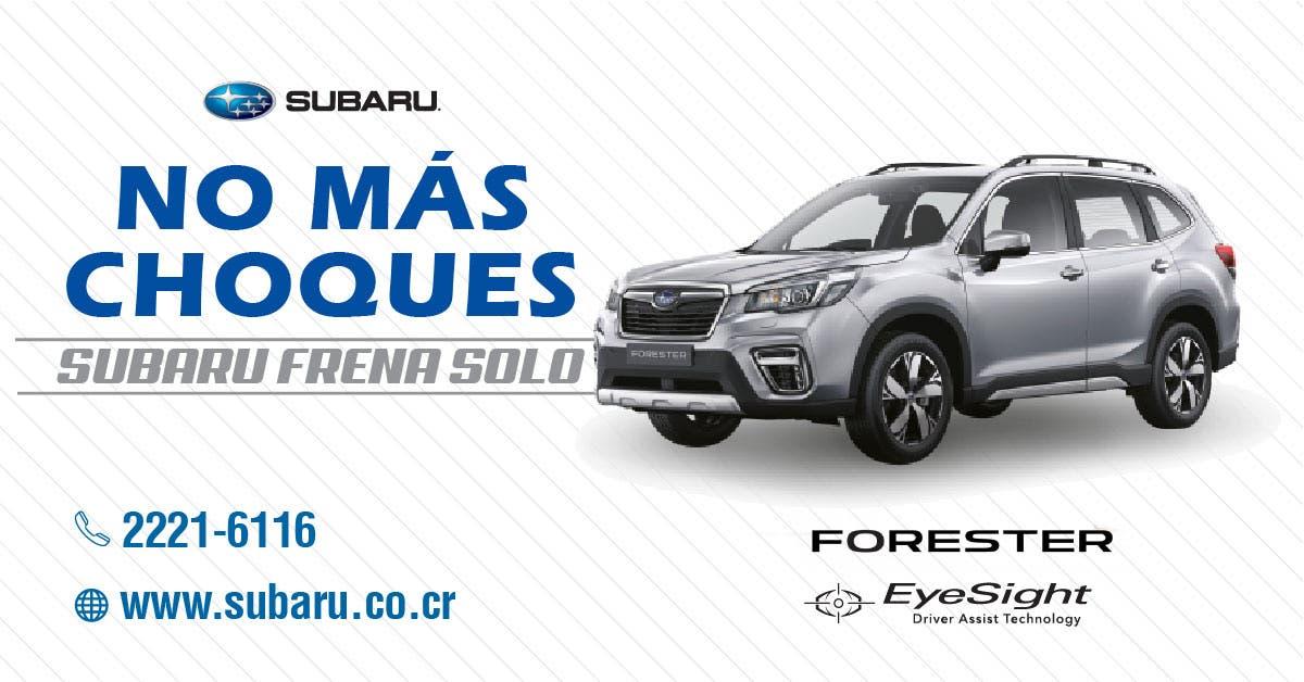 Subaru Forester EyeSight driver assist technology