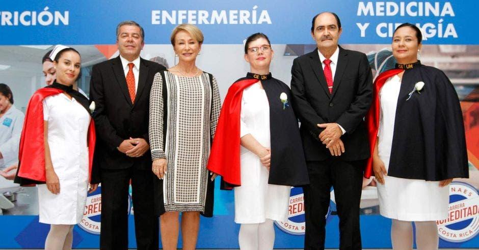 Funcionarios de la Unviersidad Hispanoamericana