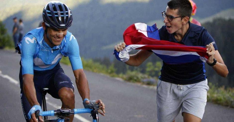 Andrey Amador vuelve a destacar en el ciclismo internacional. Archivo Movistar Team/La República