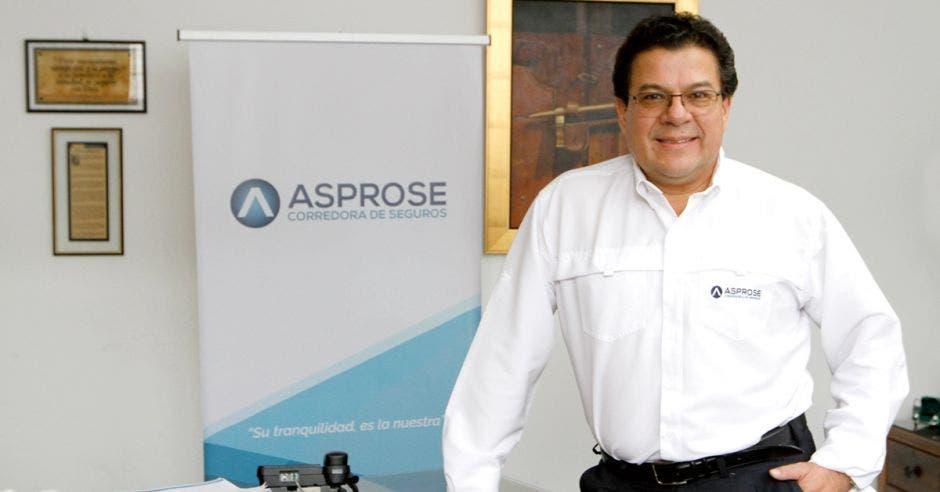 Marvin Umaña, gerente general de Asprose Corredora de Seguros