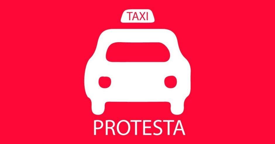 Una señal de taxistas