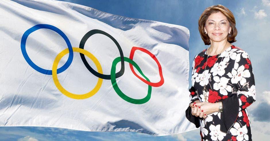 """""""Será un gusto servir a la causa del movimiento olímpico internacional y a los valores que el mismo representa"""", dijo la expresidenta Laura Chinchilla. Archivo/La República"""