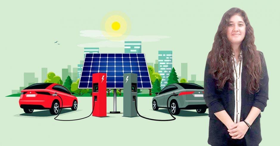 Natalia Jiménez generó un prototipo que carga la batería de un auto eléctrico en un 50% en caso extremo. Cortesía-Shutterstock/La República