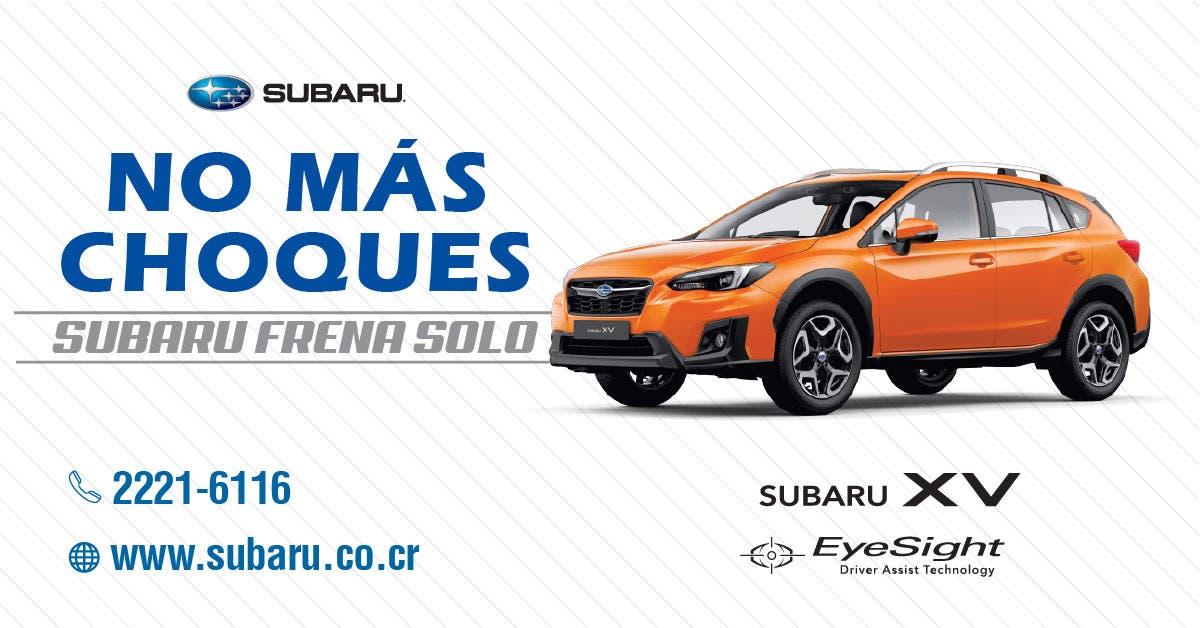 Automovil Subaru modelo XV Costa Rica