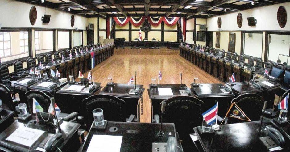 la Asamblea Legislativa vacía