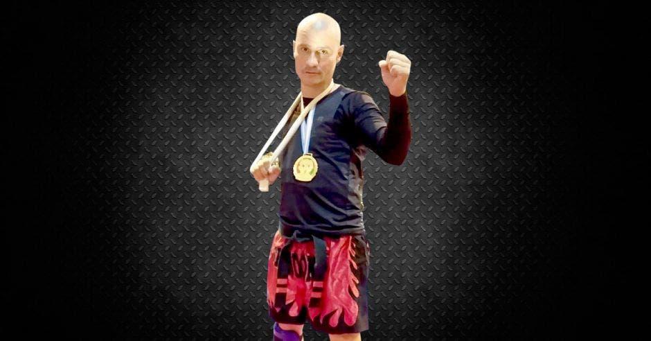 Andrés Fontana es el para-atleta pionero en artes marciales en Costa Rica. Cortesía/La República