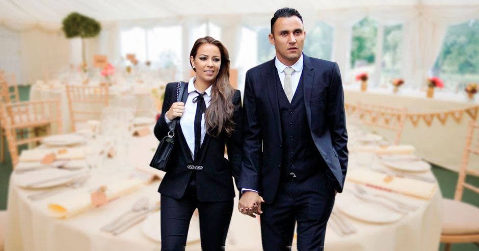 Keylor y su esposa Andrea Salas estarán en la esperada boda. Archivo/La República