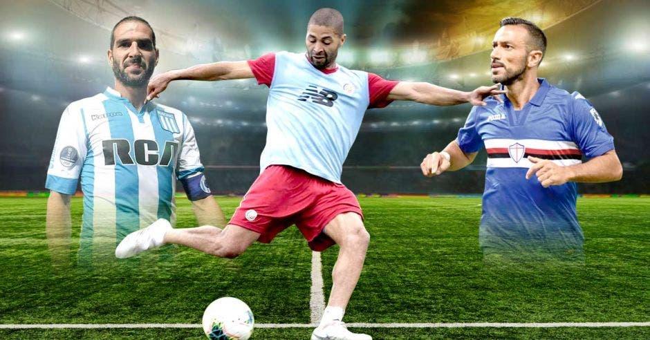 Los tres futbolistas fueron los más recientes goleadores en sus ligas. Archivo/La República