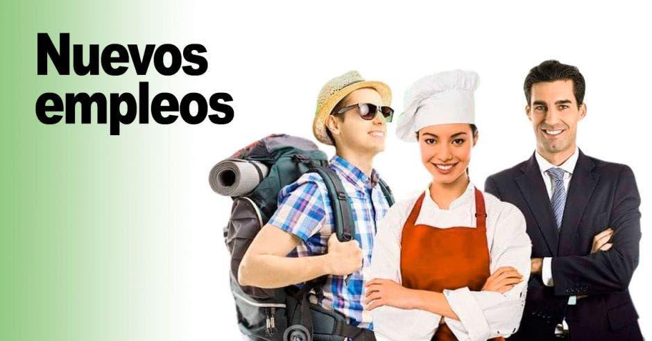 viajero, chef y recepcionista de hotel