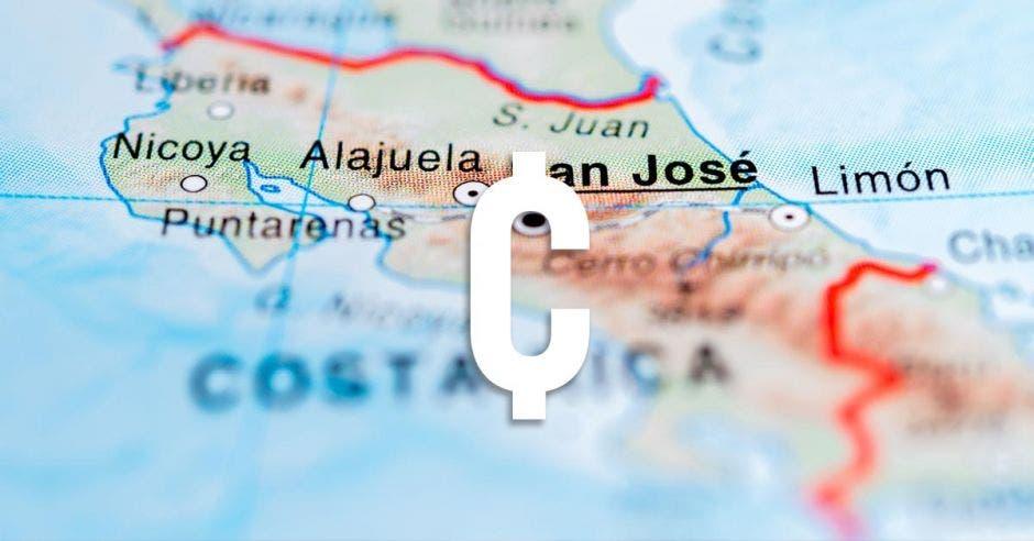 Colón, Costa Rica, mapa
