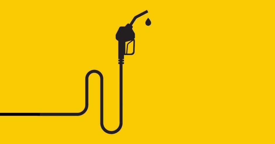 una manguera de combustible.