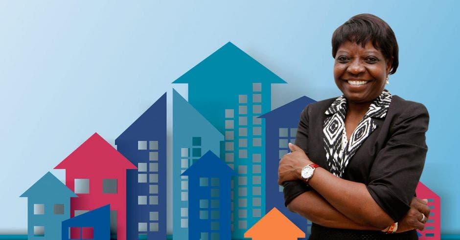 """""""El fin de The Community Builders es crear alojamiento asequible para personas, sin importar sus ingresos, para que así alcancen su potencial"""", según Rose Mabwa, directora regional del proyecto. Esteban Monge/La República"""