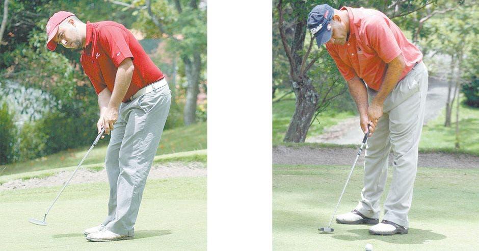 Dos jugadores de golf