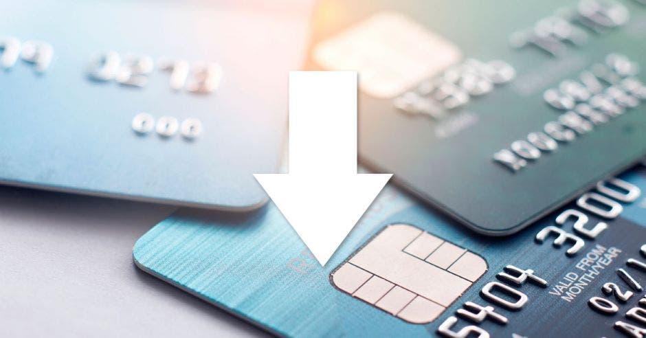 Tarjetas de crédito, flecha