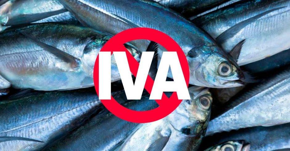 Pescados tachados con el signo de IVA
