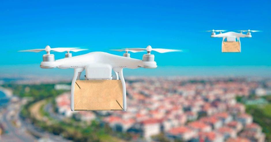 Drones volando