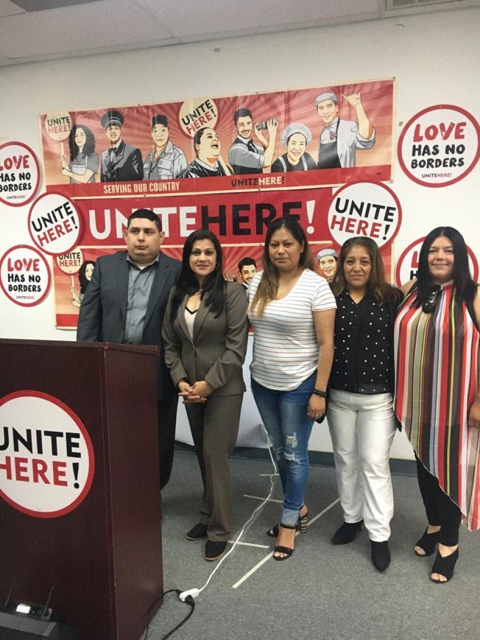 Grupo de trabajadores indocumentados de Trump