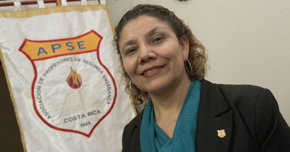 Mélida Cedeño en la sede la APSE