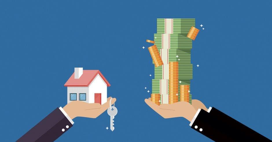 Intercambio de monedas y vivienda
