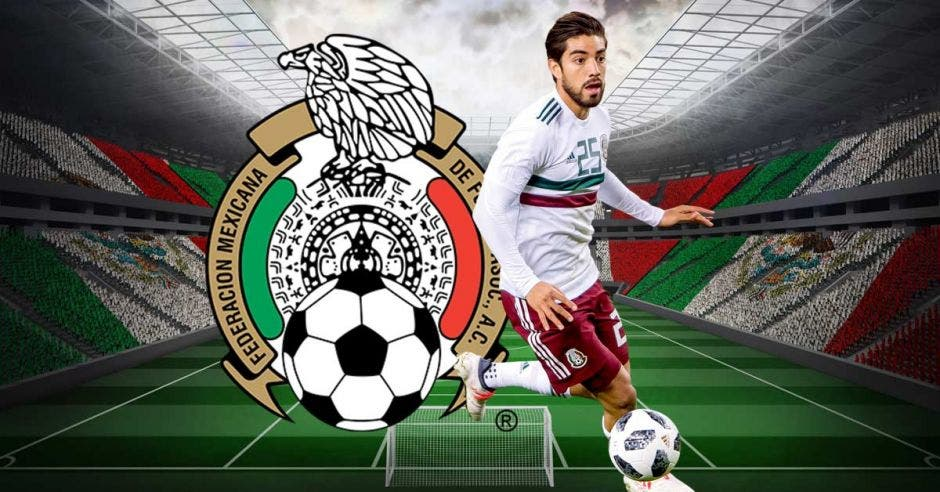 Rodlfo Pizarro y escudo de México