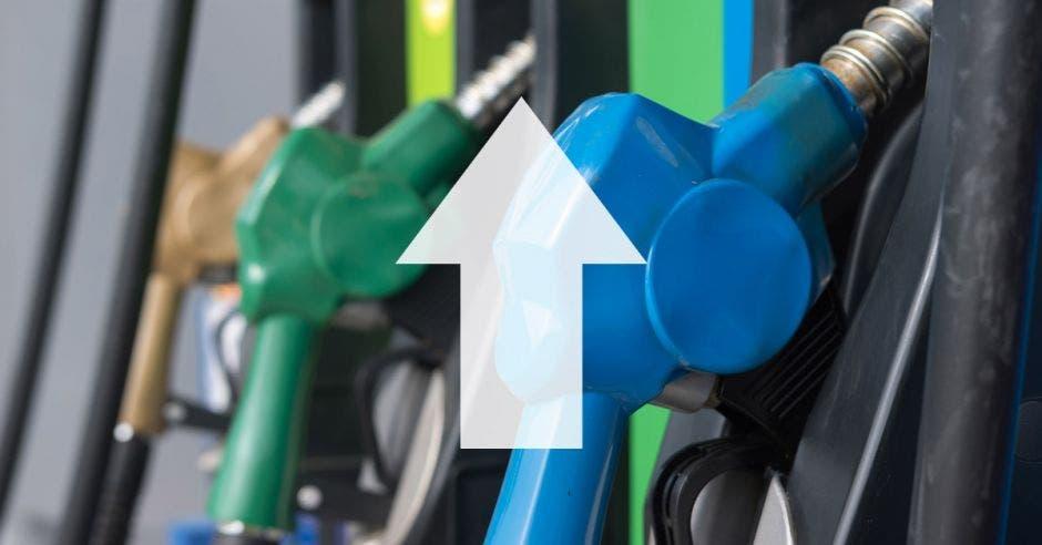 Gasolina, flecha hacia arriba